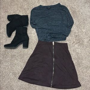 Dresses & Skirts - Purple suede mini skirt.